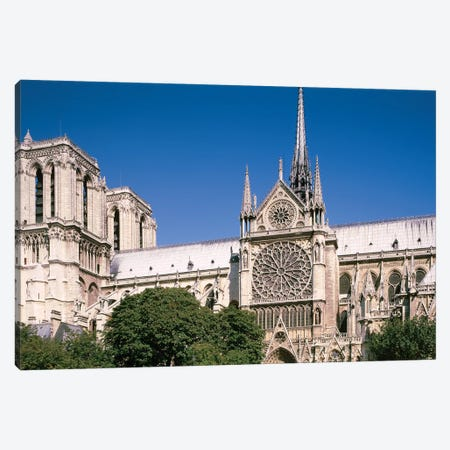 Low Angle View Of The Notre Dame, Paris, Ile-De-France, France Canvas Print #PIM15333} by Panoramic Images Canvas Wall Art