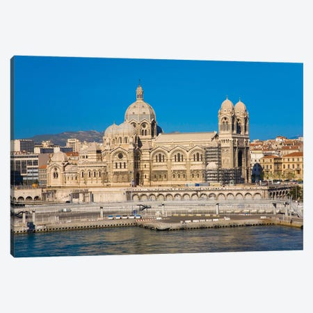 Notre Dame De La Garde, Marseille, Provence, France On The Mediterranean Sea Canvas Print #PIM15335} by Panoramic Images Canvas Print