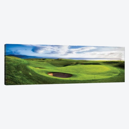 18th Green at Brora Golf Club, Moray Firth, Brora, Scotland Canvas Print #PIM15338} by Panoramic Images Canvas Artwork