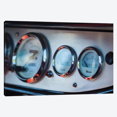 1930's-era car exterior radiator temperature gauge, Gloucester, Cape Ann, Essex County, Massachusetts, USA Canvas Print #PIM15339} by Panoramic Images Canvas Wall Art