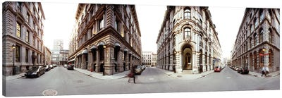 360 degree view of a city, Montreal, Quebec, Canada Canvas Art Print