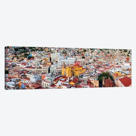 Aerial view of Cathedral Basilica of Our Lady of Light, Guanajuato, Mexico Canvas Print #PIM15344} by Panoramic Images Canvas Wall Art