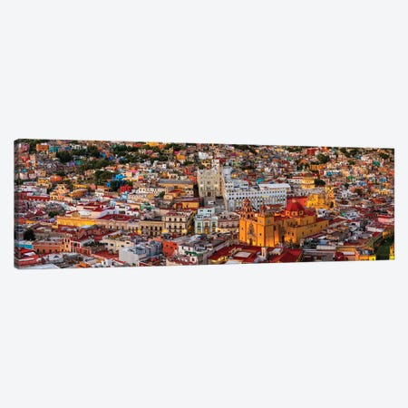 Aerial view of colorful city, Guanajuato, Mexico Canvas Print #PIM15346} by Panoramic Images Canvas Art