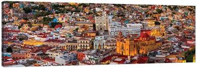 Aerial view of colorful city, Guanajuato, Mexico Canvas Art Print
