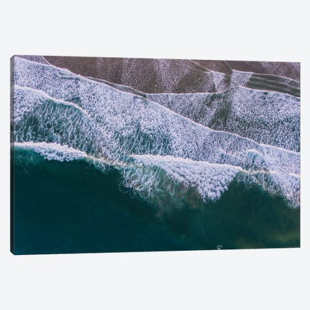 Aerial view of the beach, Cannon Beach, Oregon, USA Canvas Print #PIM15350} by Panoramic Images Canvas Art