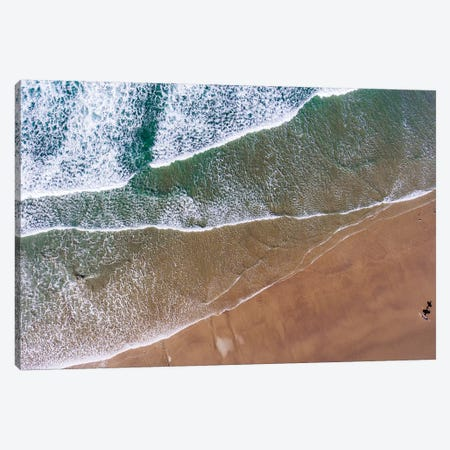 Aerial view of the beach, Newport, Lincoln County, Oregon, USA Canvas Print #PIM15352} by Panoramic Images Canvas Artwork