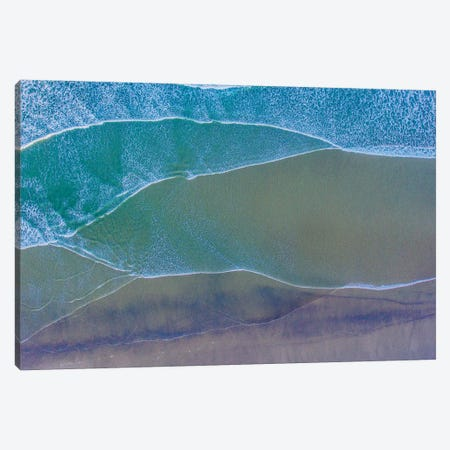 Aerial view of the beach, Newport, Lincoln County, Oregon, USA Canvas Print #PIM15353} by Panoramic Images Canvas Art