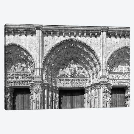 Architectural details at the entrance of a cathedral, Portail Royal, Chartres Cathedral, Chartres, Eure-et-Loir, France Canvas Print #PIM15359} by Panoramic Images Canvas Art