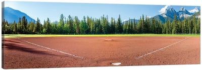 Baseball field, Baseball Diamond, Alberta, Canada Canvas Art Print