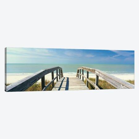 Boardwalk on the beach, Gasparilla Island, Florida, USA Canvas Print #PIM15390} by Panoramic Images Canvas Wall Art