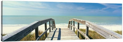 Boardwalk on the beach, Gasparilla Island, Florida, USA Canvas Art Print