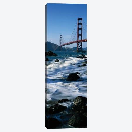 Bridge across the sea, Golden Gate Bridge, Baker Beach, San Francisco, California, USA Canvas Print #PIM15392} by Panoramic Images Canvas Artwork