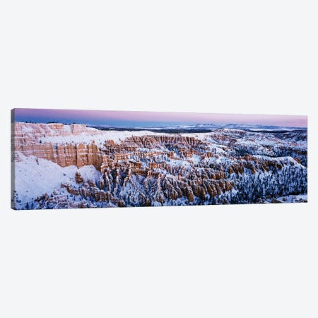 Canyon covered with snow, Bryce Point, Bryce Canyon National Park, Utah, USA 3-Piece Canvas #PIM15399} by Panoramic Images Canvas Wall Art