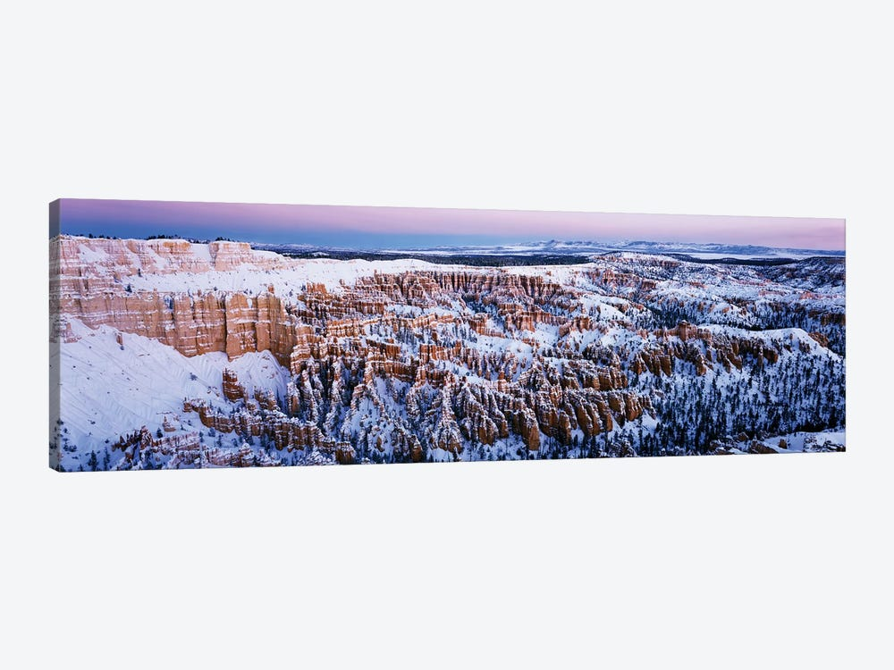 Canyon covered with snow, Bryce Point, Bryce Canyon National Park, Utah, USA by Panoramic Images 1-piece Canvas Wall Art