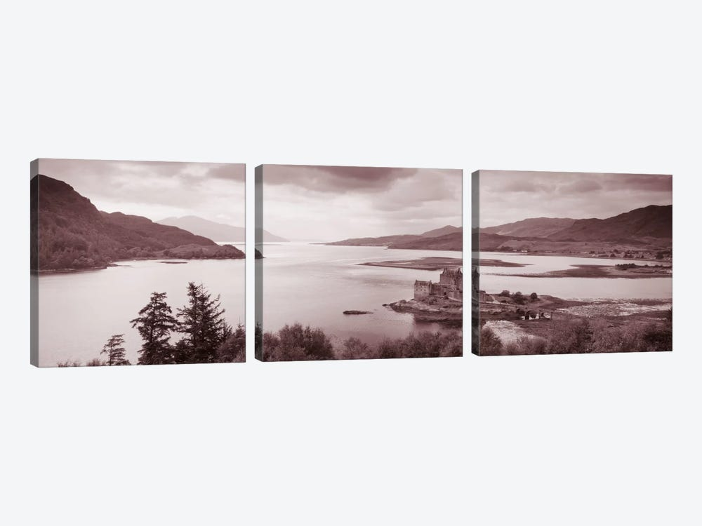 Eilean Donan Castle on Loch Alsh & Duich Scotland by Panoramic Images 3-piece Canvas Art