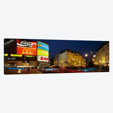 Piccadilly Circus, City Of Westminster, London, England, United Kingdom Canvas Print #PIM153} by Panoramic Images Canvas Wall Art
