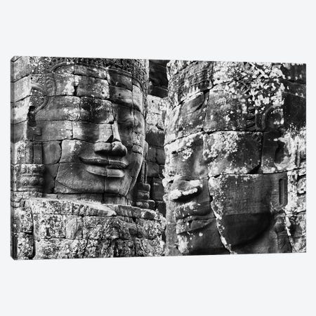Carved stone faces in the Khmer temple of Bayon, Siem Reap, Cambodia Canvas Print #PIM15401} by Panoramic Images Canvas Artwork