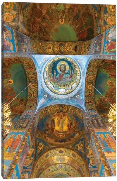 Ceiling of the Church of the Savior on Blood, Saint Petersburg, Russia Canvas Art Print