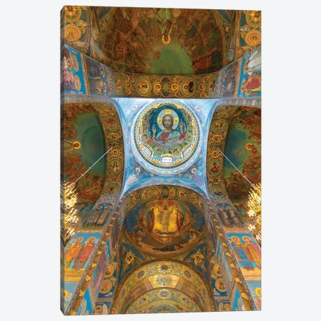 Ceiling of the Church of the Savior on Blood, Saint Petersburg, Russia Canvas Print #PIM15402} by Panoramic Images Canvas Artwork