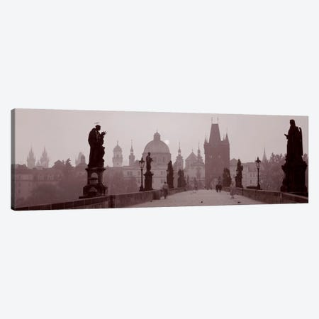 Charles Bridge Prague Czech Republic Canvas Print #PIM1540} by Panoramic Images Canvas Artwork
