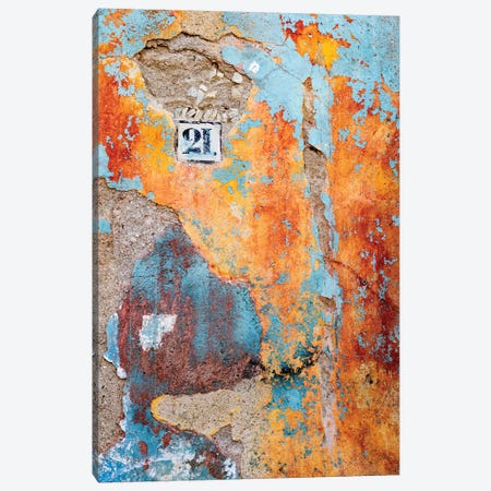 Close up of wall, Guanajuato, Mexico Canvas Print #PIM15420} by Panoramic Images Canvas Artwork