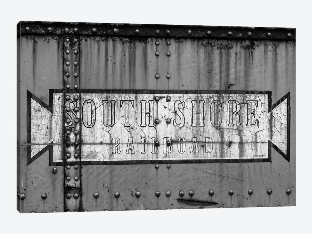 Close-up of freight railroad car, South Shore Line, Chicago, Cook County, Illinois, USA by Panoramic Images 1-piece Art Print