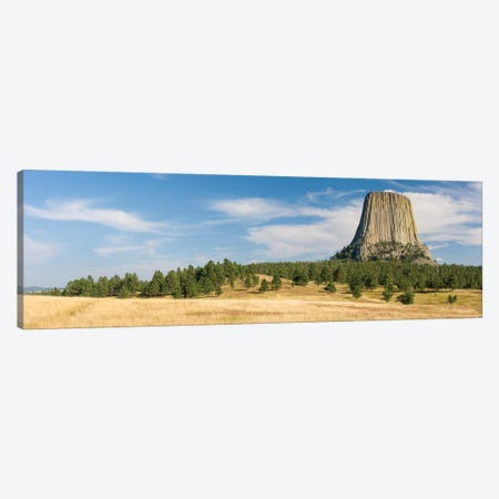 Devils Tower seen from Joyner Ridge Trail, Devils Tower National Monument, Wyoming, USA Canvas Print #PIM15463} by Panoramic Images Canvas Art