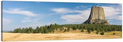 Devils Tower seen from Joyner Ridge Trail, Devils Tower National Monument, Wyoming, USA Canvas Art Print