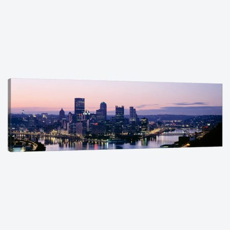 USA, Pennsylvania, Pittsburgh, Monongahela River Canvas Print #PIM1546} by Panoramic Images Canvas Art Print