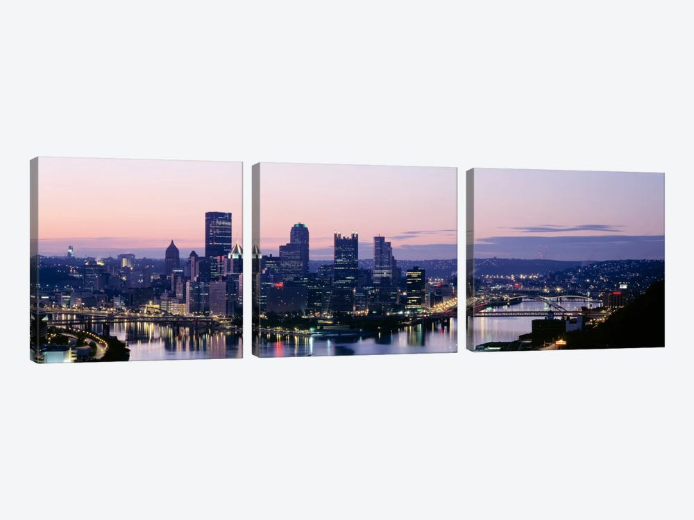 USA, Pennsylvania, Pittsburgh, Monongahela River by Panoramic Images 3-piece Canvas Art