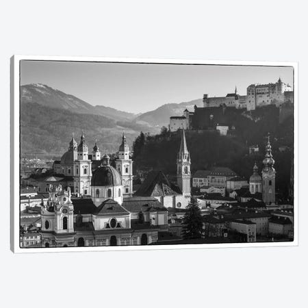 Elevated view of buildings in city, Salzburg, Salzburgerland, Austria 3-Piece Canvas #PIM15470} by Panoramic Images Art Print