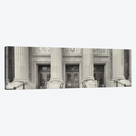 Entrance to the university building, University of Minnesota, Upper Midwest, Minneapolis, Hennepin County, Minnesota, USA Canvas Print #PIM15472} by Panoramic Images Canvas Art Print