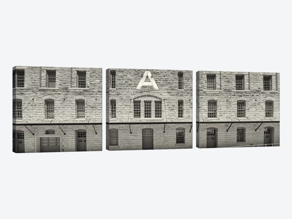 Facade of Pillsbury Building, Mill District, Upper Midwest, Minneapolis, Hennepin County, Minnesota, USA by Panoramic Images 3-piece Canvas Art