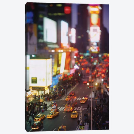 High angle view of traffic on a road in a city, Times Square, Manhattan, New York City, New York State, USA Canvas Print #PIM15512} by Panoramic Images Canvas Art