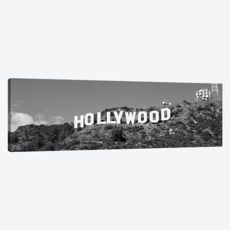 Hollywood Sign At Hollywood Hills, Los Angeles, California, USA 3-Piece Canvas #PIM15513} by Panoramic Images Canvas Wall Art