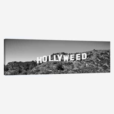 Hollywood Sign changed to Hollyweed, at Hollywood Hills, Los Angeles, California, USA Canvas Print #PIM15514} by Panoramic Images Canvas Print