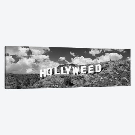 Hollywood Sign changed to Hollyweed, at Hollywood Hills, Los Angeles, California, USA Canvas Print #PIM15515} by Panoramic Images Canvas Print