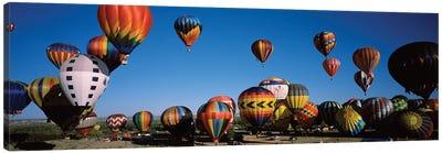 Hot air balloons floating in sky, Albuquerque International Balloon Fiesta, Albuquerque, Bernalillo County, New Mexico, USA Canvas Art Print
