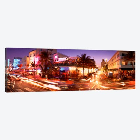 Traffic on a road, Ocean Drive, Miami, Florida, USA Canvas Print #PIM1551} by Panoramic Images Art Print