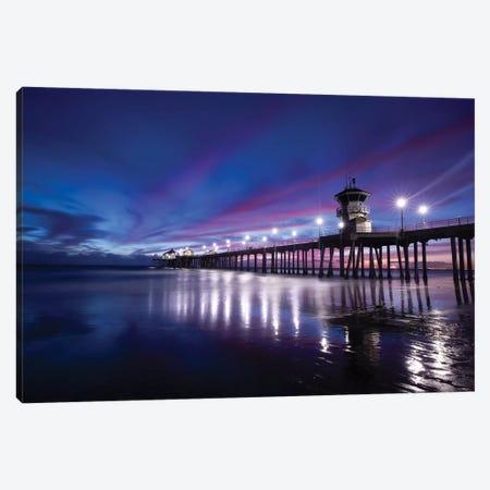 Huntington Beach Pier at dusk, California, USA Canvas Print #PIM15520} by Panoramic Images Canvas Art Print