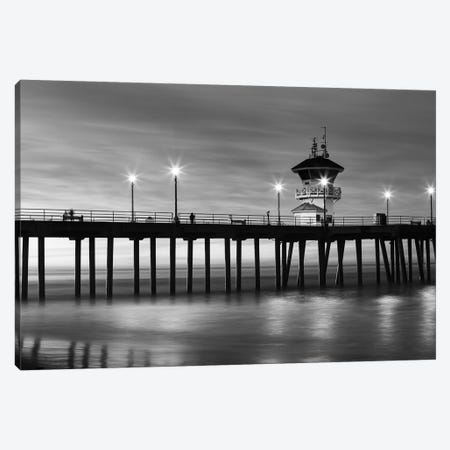 Huntington Beach Pier at sunset, California, USA Canvas Print #PIM15521} by Panoramic Images Canvas Art Print