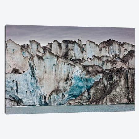 Volcanic Ash From Grimsvotn On Ice Walls, Jokulsarlon Glacial Lagoon, Vatnajokull National Park, Iceland Canvas Print #PIM15522} by Panoramic Images Canvas Print