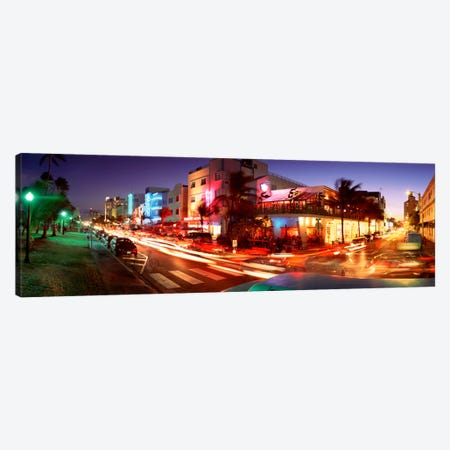 Traffic On A Road, Ocean Drive, Miami, Florida, USA #2 Canvas Print #PIM1552} by Panoramic Images Canvas Art Print