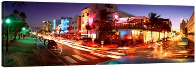 Traffic On A Road, Ocean Drive, Miami, Florida, USA #2 Canvas Art Print