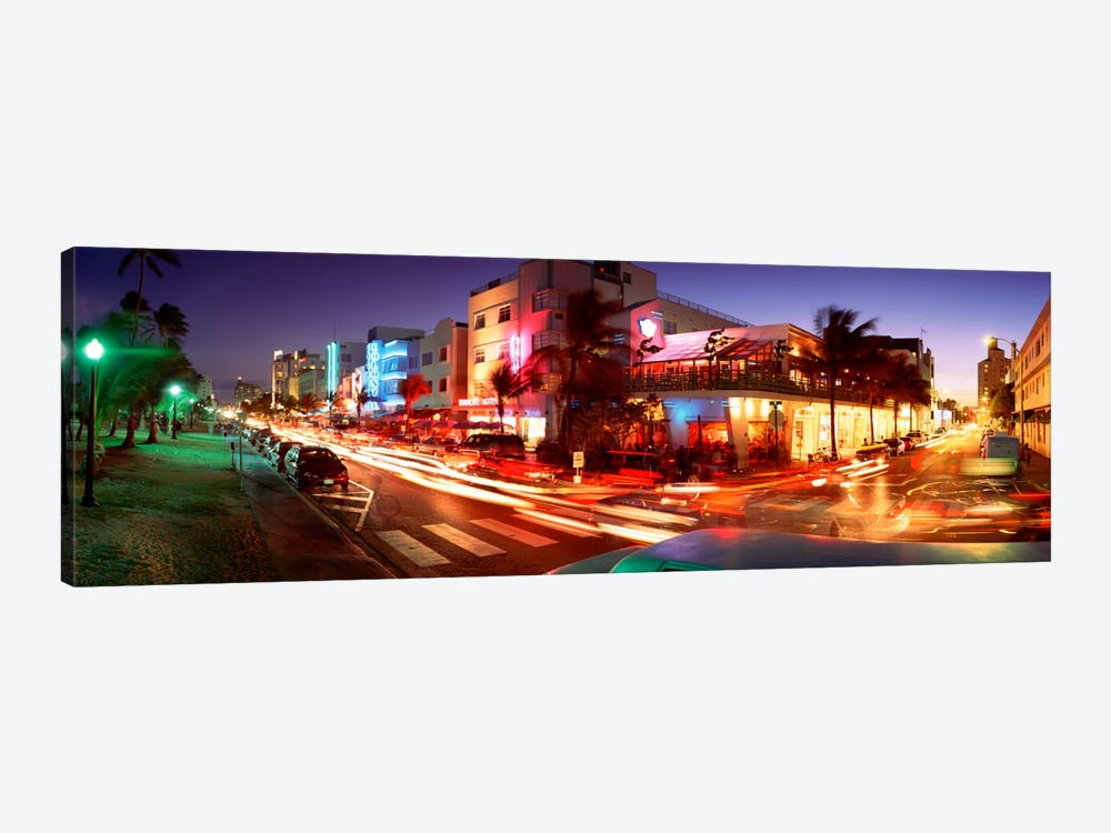 Traffic On A Road, Ocean Drive, Miami, Florida, USA #2 by Panoramic Images 1-piece Canvas Art Print