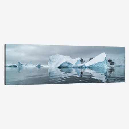 Icebergs floating in the Southern Ocean, Iceberg Graveyard, Lemaire Channel, Antarctic Peninsula, Antarctica Canvas Print #PIM15530} by Panoramic Images Canvas Artwork