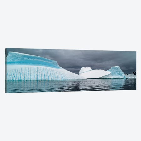 Icebergs floating in the Southern Ocean, Iceberg Graveyard, Lemaire Channel, Antarctic Peninsula, Antarctica Canvas Print #PIM15532} by Panoramic Images Canvas Art