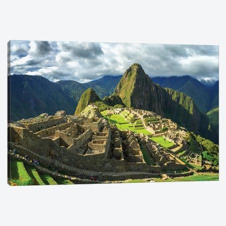 Inca City of Machu Picchu, Urubamba Province, Cusco, Peru Canvas Print #PIM15540} by Panoramic Images Canvas Print