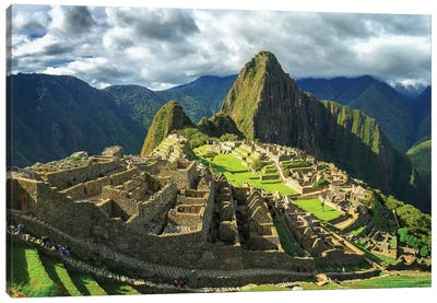 Inca City of Machu Picchu, Urubamba Province, Cusco, Peru Canvas Art Print