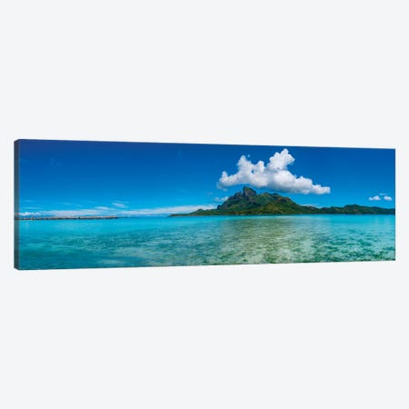 Islands in the Pacific Ocean, Bora Bora, Tahiti, French Polynesia Canvas Print #PIM15542} by Panoramic Images Canvas Print